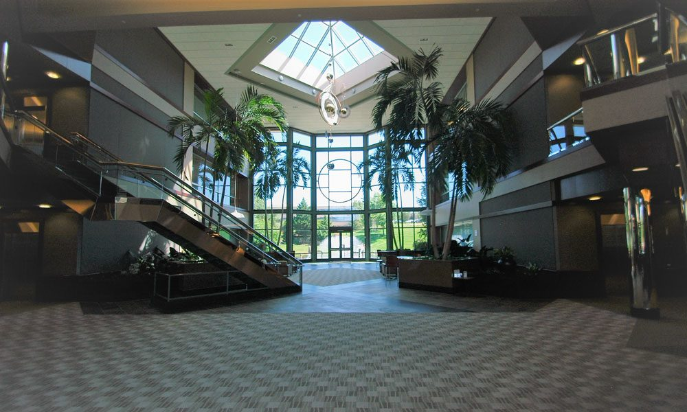 Chesterbrook Corporate Center view of two story lobby