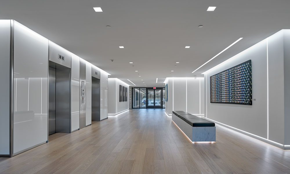 650 Swedesford Road interior lobby entry view with elevators