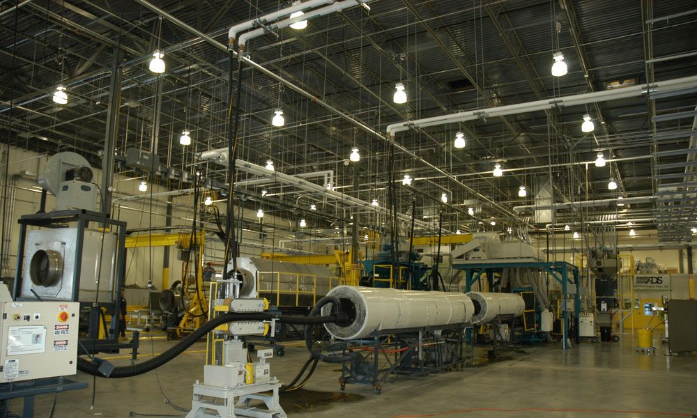 Advanced Drainage Systems interior view of industrial setting