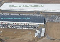 Aerial view of Boulder Business Center with labeled site pads