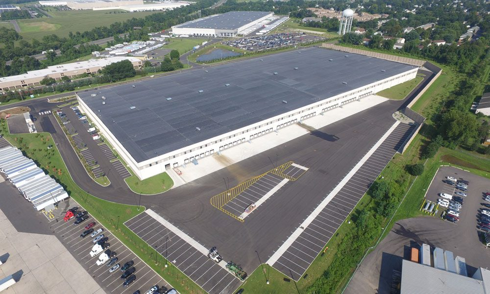 First Florence Distribution Center aerial view of exterior with full facility view
