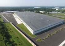 First Florence Distribution Center aerial from the side view with parking lots