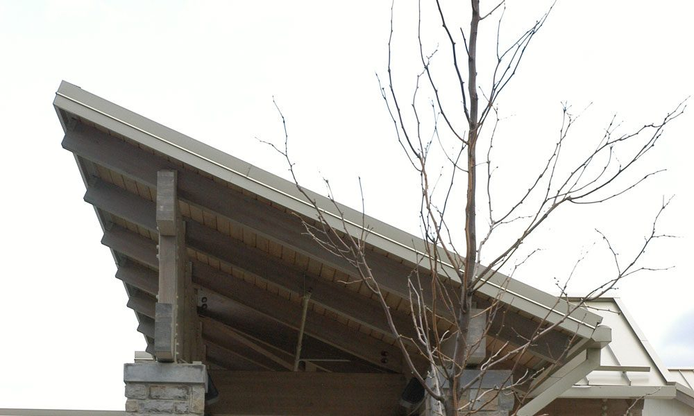 Exterior of reading surgical center entrance in closeup