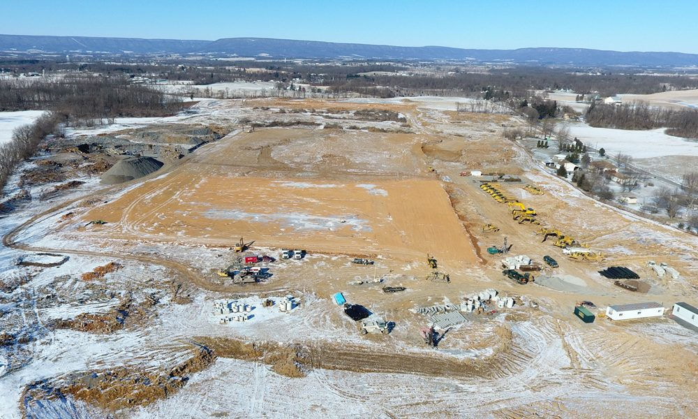 Ritner Highway Construction of Pad in Winter