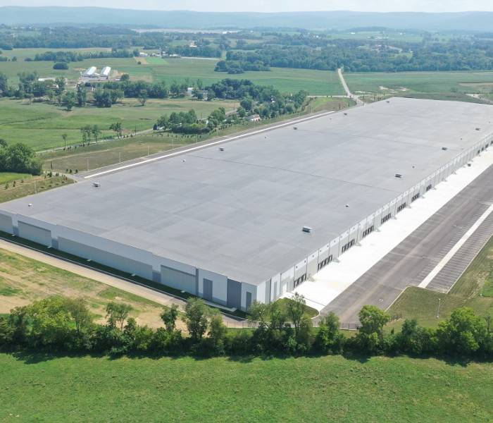 Ritner Warehouse Aerial Top View