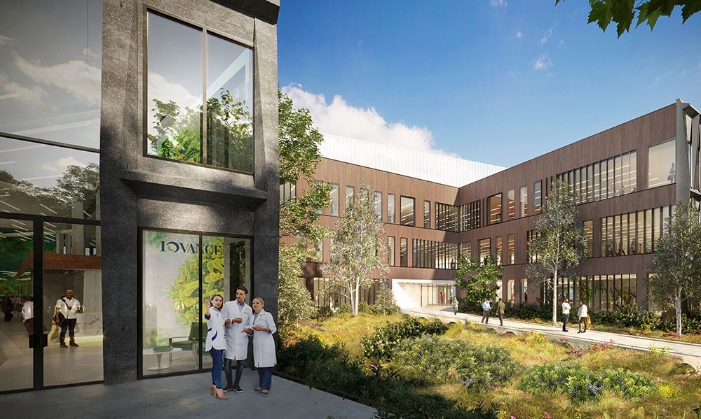 Iovance Courtyard Exterior View Rendering