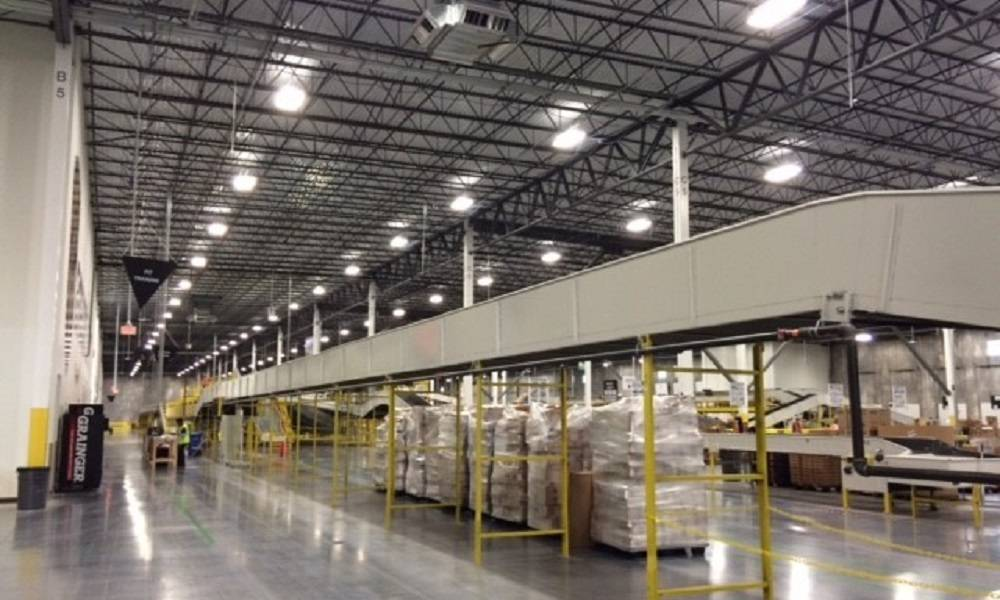 Amazon Fulfillment Center in NJ Interview View of conveyors