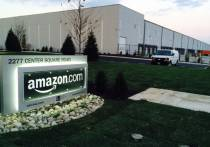 Amazon Fulfillment Center in NJ Exterior view with sign - rendering