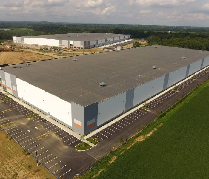 Margolis Warehouses Aerial View